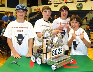 Members of the Outlaw Robotics Team 8023 participated in their first tournament.  photo provided