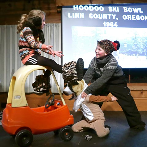 Black Butte School told the tale of Harold the Hodag in their winter play. photo by Jerry Baldock
